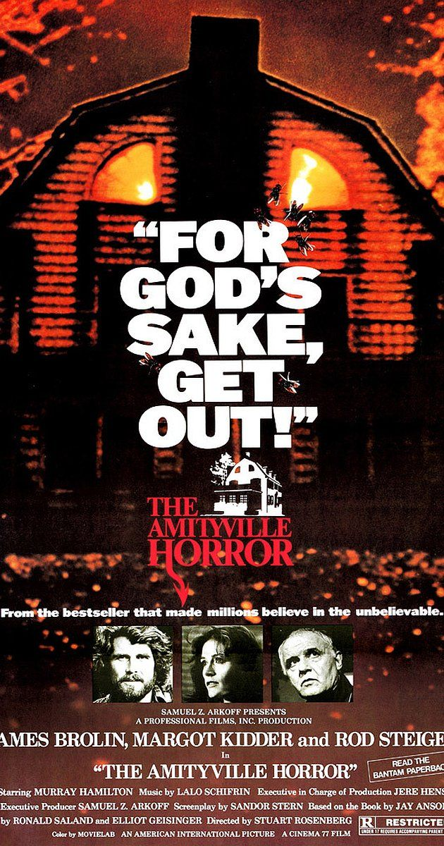 Directed by Stuart Rosenberg.  With James Brolin, Margot Kidder, Rod Steiger, Don Stroud. Newlyweds move into a large house where a mass murder was committed, and experience strange manifestations which drive them away.