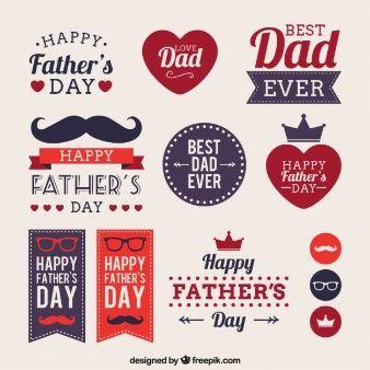 Etiquetas del día del padre