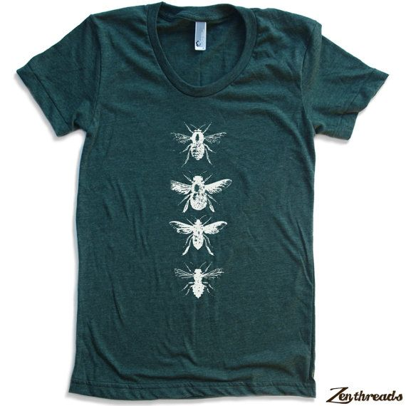 Womens BEES american apparel t shirt All Sizes S M L XL (17 Color Options). $18.00, via Etsy.