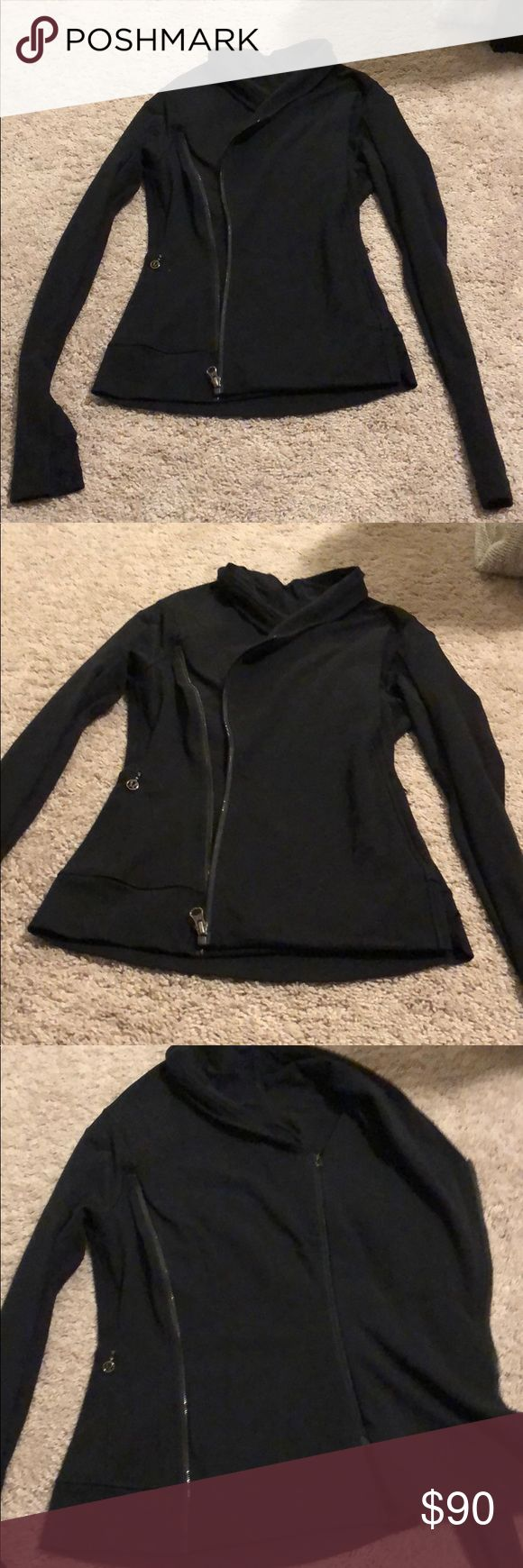 Lululemon Wrap Zip Up Swetashirt Lululemon Wrap Zip Up Jacket in Black. This is in very good condition. I got this a few years ago and haven't worn it all that much. Super cute on. It's a size 6! Make me an offer! lululemon athletica Jackets & Coats
