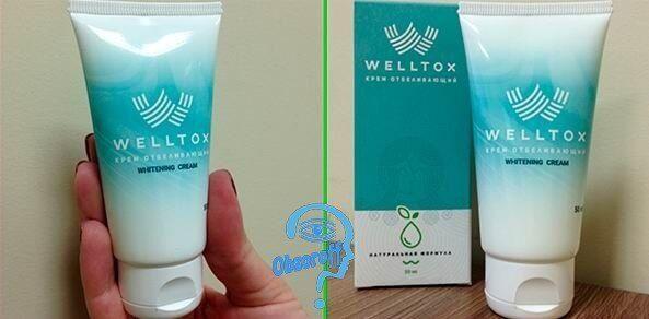 Whitening Creme Welltox aus Pigmentflecken und Sommersprossen