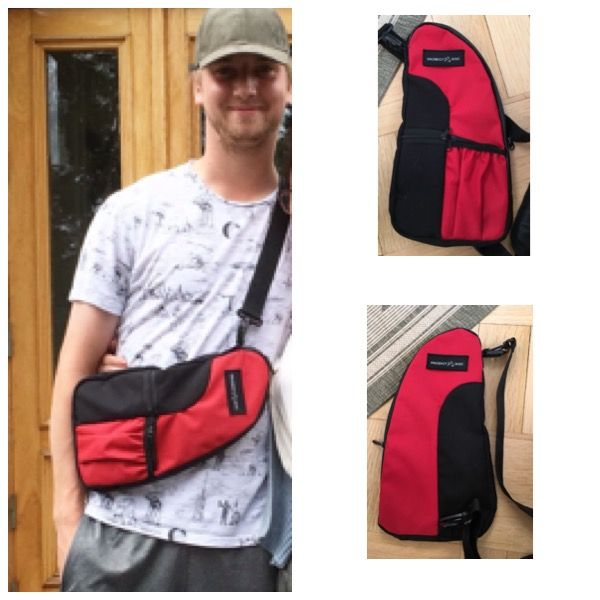 Prodigy fanny bag made from old frisbee golf bag material. 8/2017 Diy