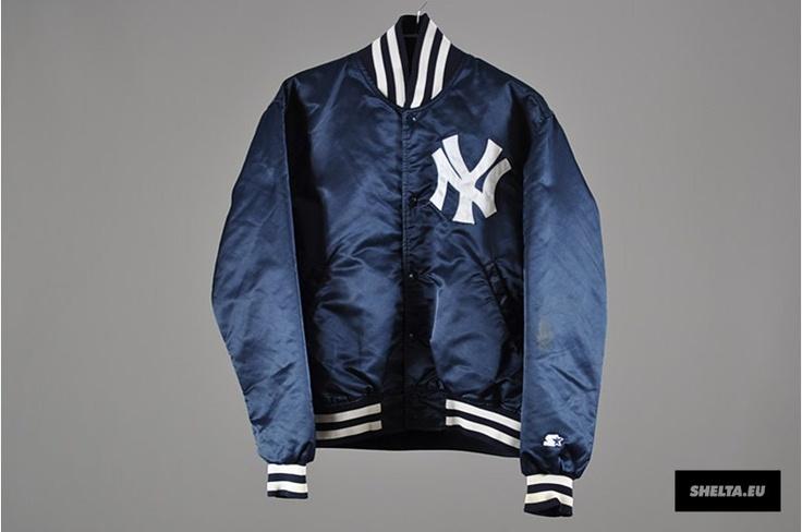 Vintage 90' New York Yankees MLB Major League Baseball Bomber Jacket uSmFPUD