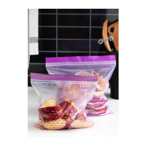 ISTAD Plastic bag IKEA Can be used over and over again since it can be re-sealed. 50 pcs - 2.49 25 x 3 qt and 14 x 1 qt