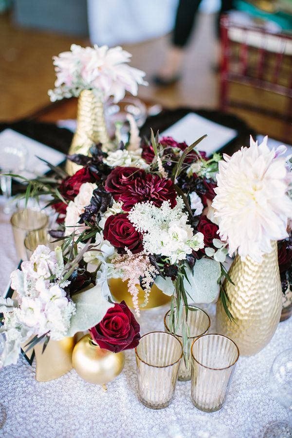 winter wedding centerpiece, photo by Booth Photographics http://ruffledblog.com/the-notwedding-chicago #weddingcenterpieces #reception