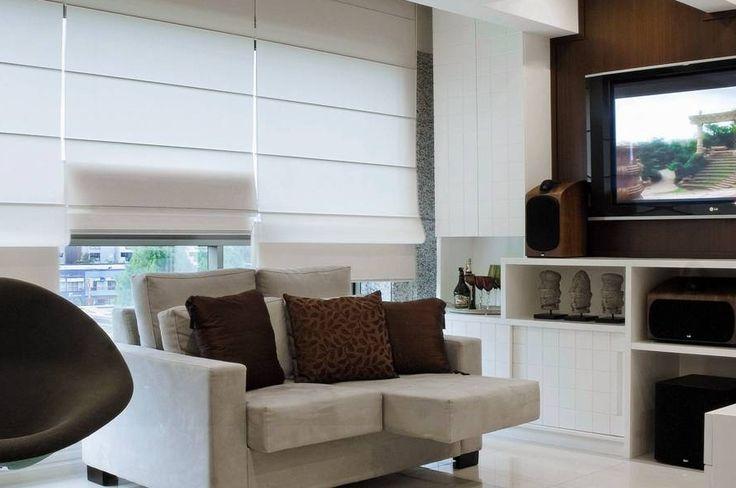 persiana romana para sala de estar