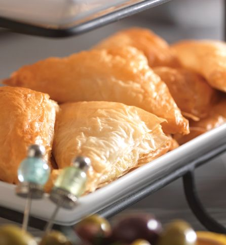 Crab & Cheese Triangles  Ricotta cheese makes these phyllo treats impressively rich and creamy.
