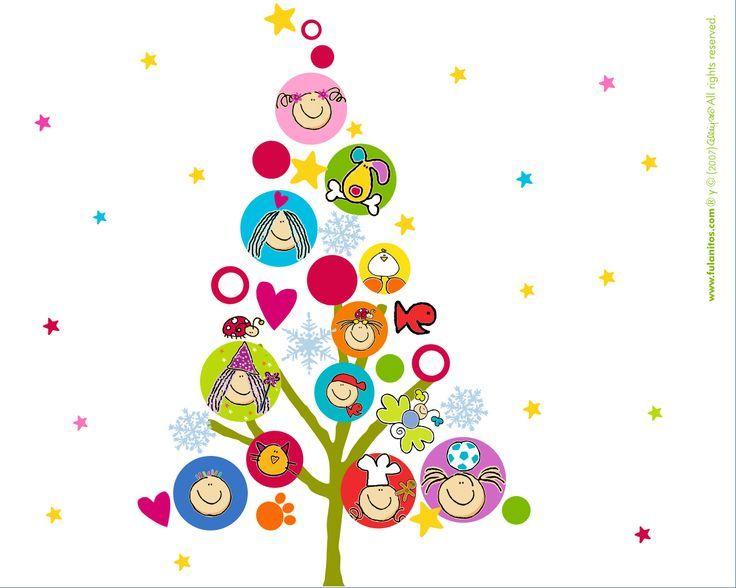 Resultado de imagen de marcos navide os infantiles - Dibujos navidenos originales ...