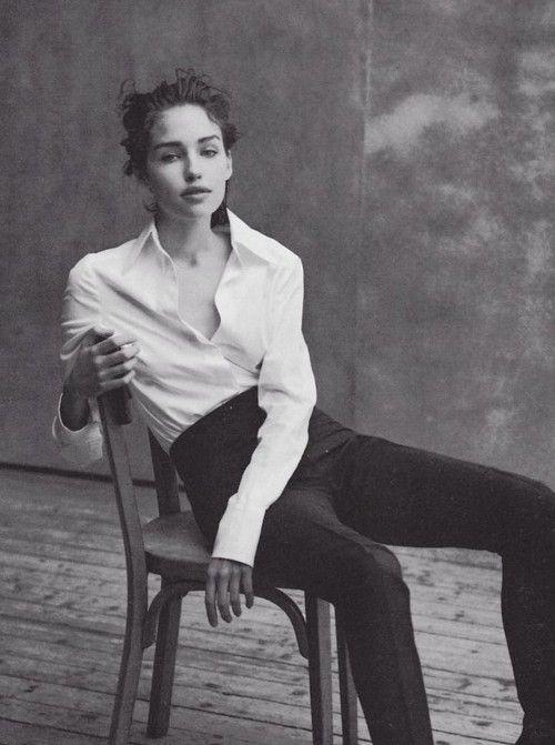 Caroline Eggert by Peter Lindbergh for Vogue Italia - May 1997.