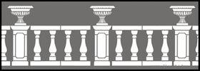 Баллюстрада 1 - Трафареты для декора :: Архитектура - купить с доставкой без предоплаты :: изготовление трафаретов для стен под покраску по каталогу и на заказ