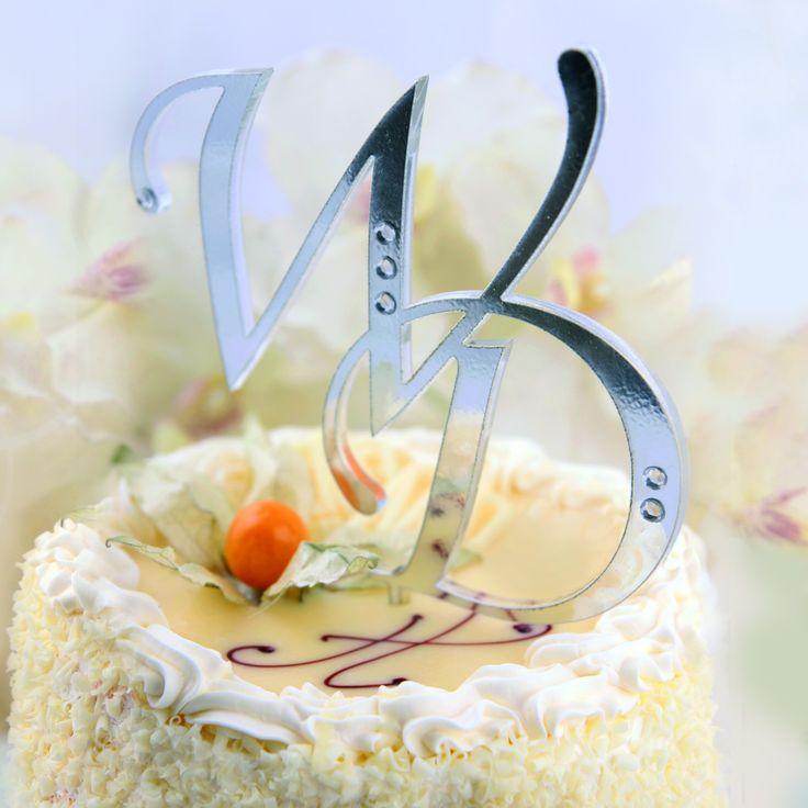 Akrylowy, wycinany laserowo monogram na tort weselny - nowość i hit sezonu!