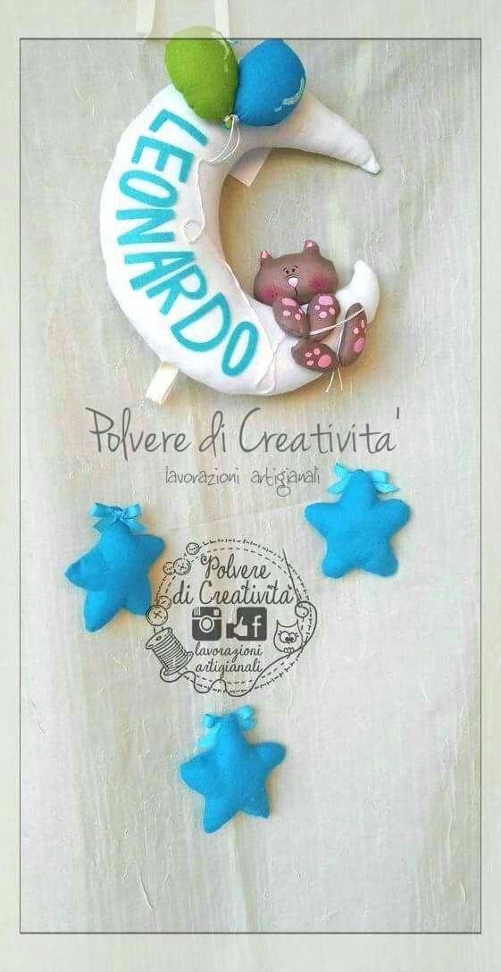 Un #fiocco #nascita per il piccolo #leonardo BENVENUTO AL MONDO PICCOLINO ❤ #CUCITO #HANDMADE #FATTOAMANO