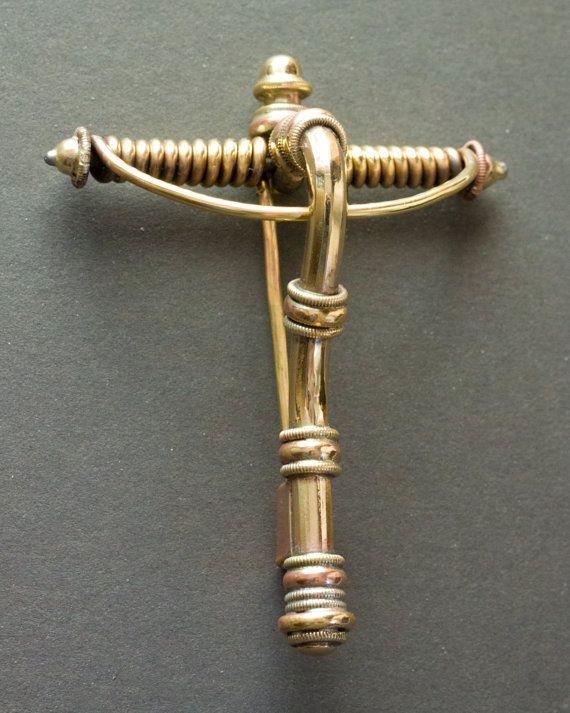 Early Iron Age ca. 200 400 C.E. crossbow fibula by Balticsmith, $180.00