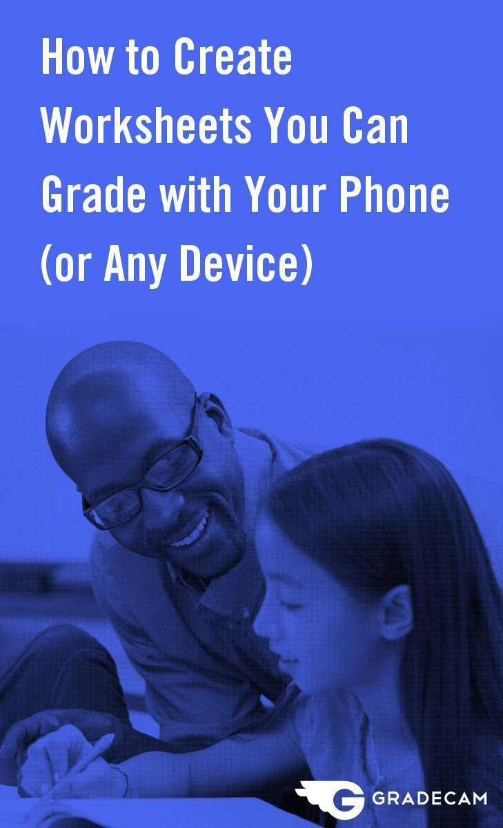 Teachers can create worksheets, tests or quizzes with online software and print on plain paper. Then, scan with an iPhone, iPad, document camera – almost any device.