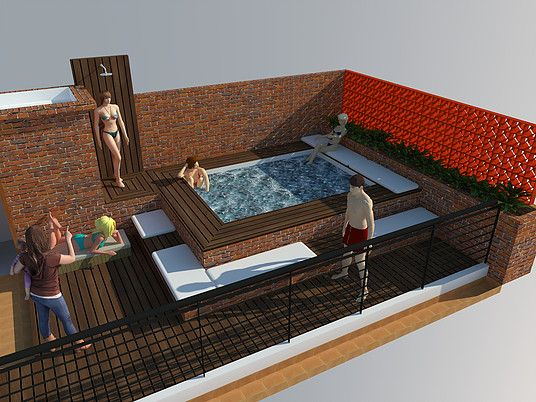 Diseño terraza chill out hotel casa carolina