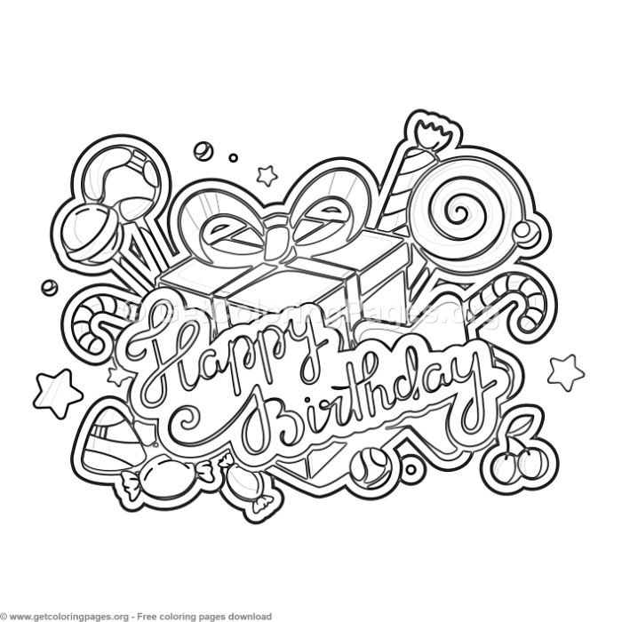 3 Happy Birthday Coloring Pages Free Instant Downloads Coloring Coloringbook Coloringpa Happy Birthday Coloring Pages Birthday Coloring Pages Coloring Pages