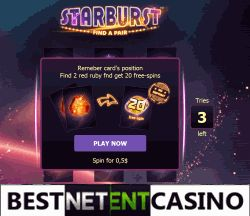 No deposit 20 big spins in Play Fortuna casino Get you 20 big spins (1$ each) at Starburst slot without any deposit in Play Fortuna casino. In order to pick up free games, you will need to find a