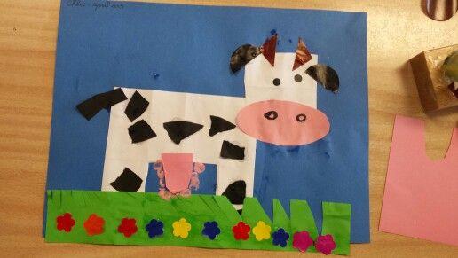 Vouwen 2d: koe