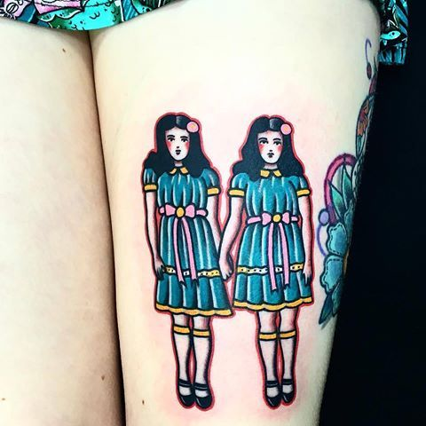 The Shining Twins tattoo by @daniqueipo at @sevendoorstattooin London, U.K.