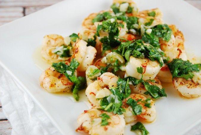 Roasted Garlic Cilantro Shrimp
