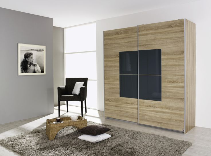 Popular This fantastic Rauch wardrobe in Sonoma Oak and Basalt accent glass is an absolute steal