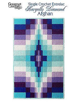 Gourmet Crochet Single Crochet Entrelac Bargello Diamond Afghan at Dream Weaver Yarns LLC