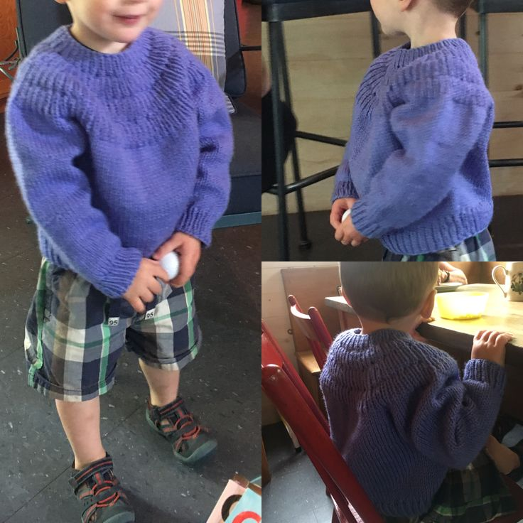 John in his #ankerssweater from @petiteknits. Made with acrylic from Vanna's brand which turns out to knit very wide.