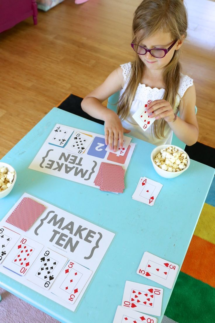 Make Ten {an easy card game for kids} - Mama.Papa.Bubba.                                                                                                                                                     More