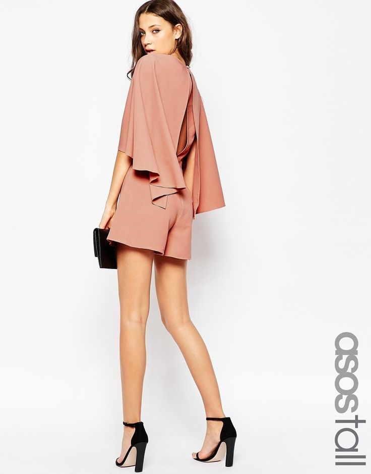 ASOS+TALL+Playsuit+with+Cape+Sleeve