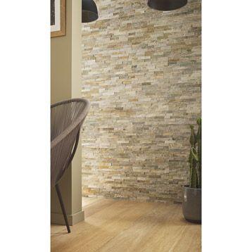 plaquette de parement magrit en pierre naturelle beige salon flaine pinterest ps. Black Bedroom Furniture Sets. Home Design Ideas