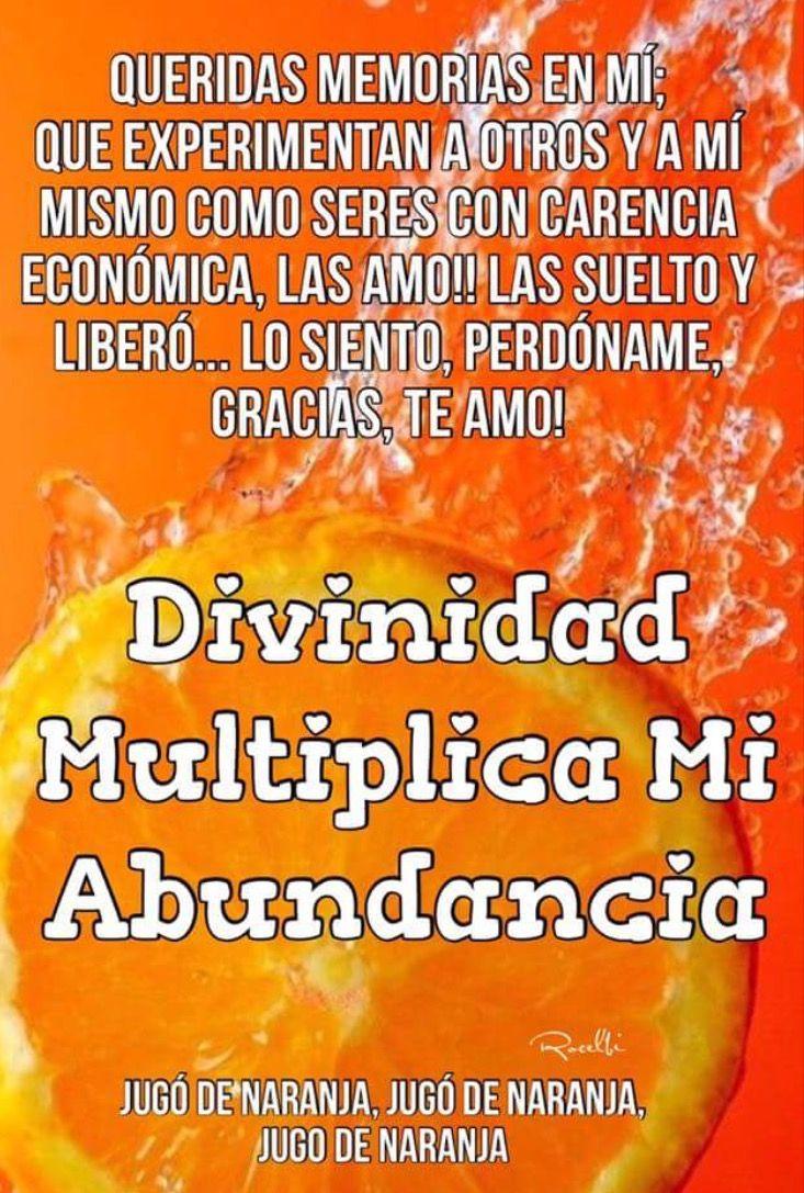 Divinidad multiplica mi abundancia.