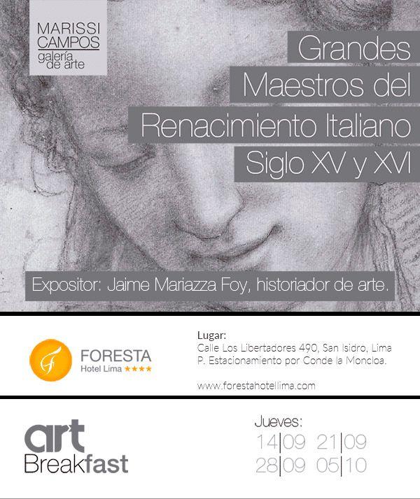 #artbreakfast en #Lima Recorre la historia del #arte en #forestahotellima todos los jueves hasta el 05/10