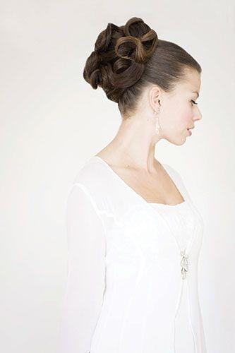 Glamorous Winter Wedding Hair
