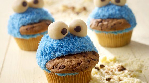 Kindergeburtstag Party Rezept - Lustiges Monster Muffins *** Funny Monster Muffins for kids birthday party