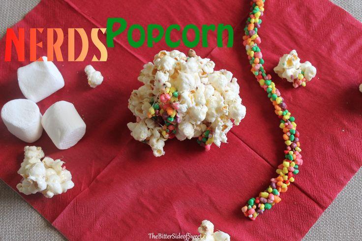 Rainbow Nerds Rope Candy Popcorn via thebittersideofsweet
