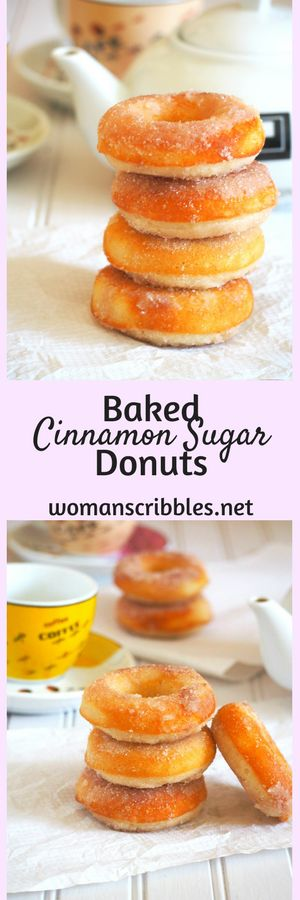 If you love buying commercial donuts, try making these cinnamon sugar donuts and enjoy them warm and baked fresh out of the oven. You will love reaching out to these goodies because they are so soft and chewy and delightfully sweet.