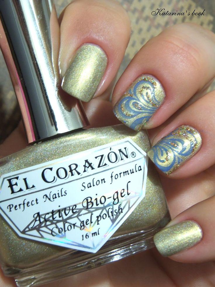 Сommunity Nail Polish Mania - Сообщество Лакомания: El Corazon Active Bio Gel №423/38 Prizma или золотые ногти + стемпинг