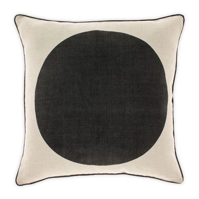 Big Spot Cushion in Black 50cm