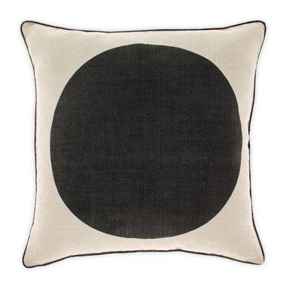 Big Spot Cushion in Black 50cm