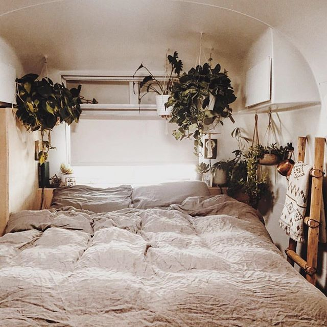 Grateful for California's rain showers as it breathes way to new life.  Side benefit: getting to cuddle up under these sheets.  Maybe we'll never leave  @tincanhomestead                                                                                                                                                                                 More