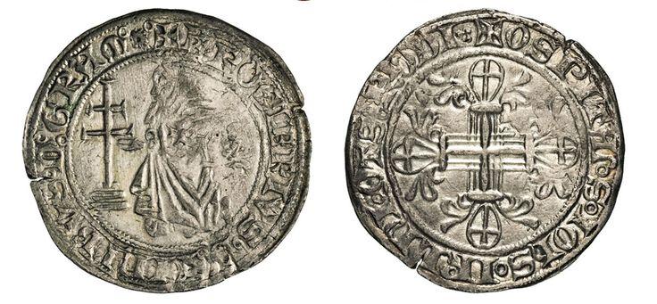 NumisBids: Numismatica Varesi s.a.s. Auction 67, Lot 484 : RODI ROGER DE PINS (1355-1365) Gigliato. D/ Il Gran Maestro...