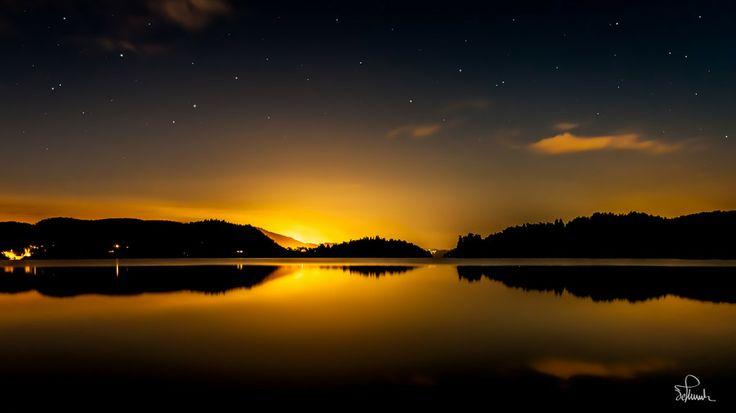 Silent night in Norway by Kasper M. de Thurah on 500px #night #lake #landscape #beautiful #norway #mirror
