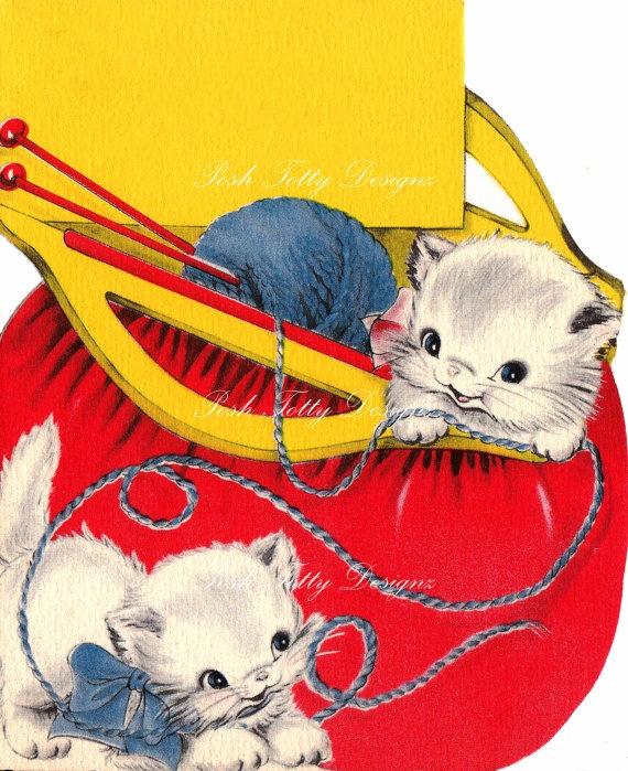 Cute Little Balls of Wool Vintage Digital Download Image (176)