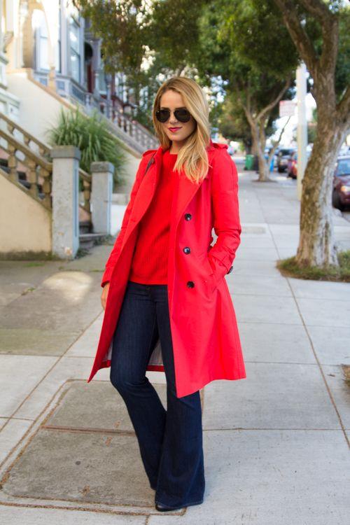 <3 Coats & Jackets [red trench coat]