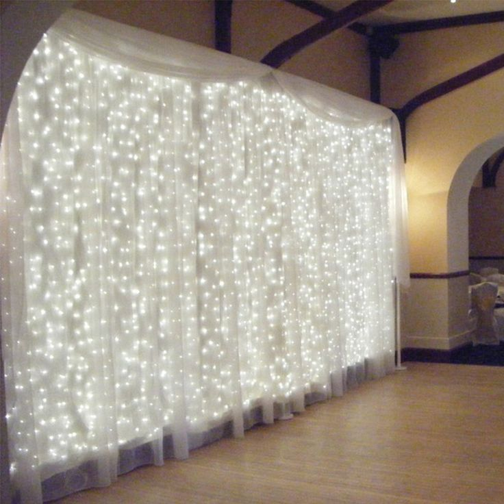 Amazon.com: TEQIN 3m x 3m 300 LED Window Light, Outdoor Party Christmas xmas Wedding Fairy String Decorative Curtain Garlands Strip Party Lights (White): Home Improvement