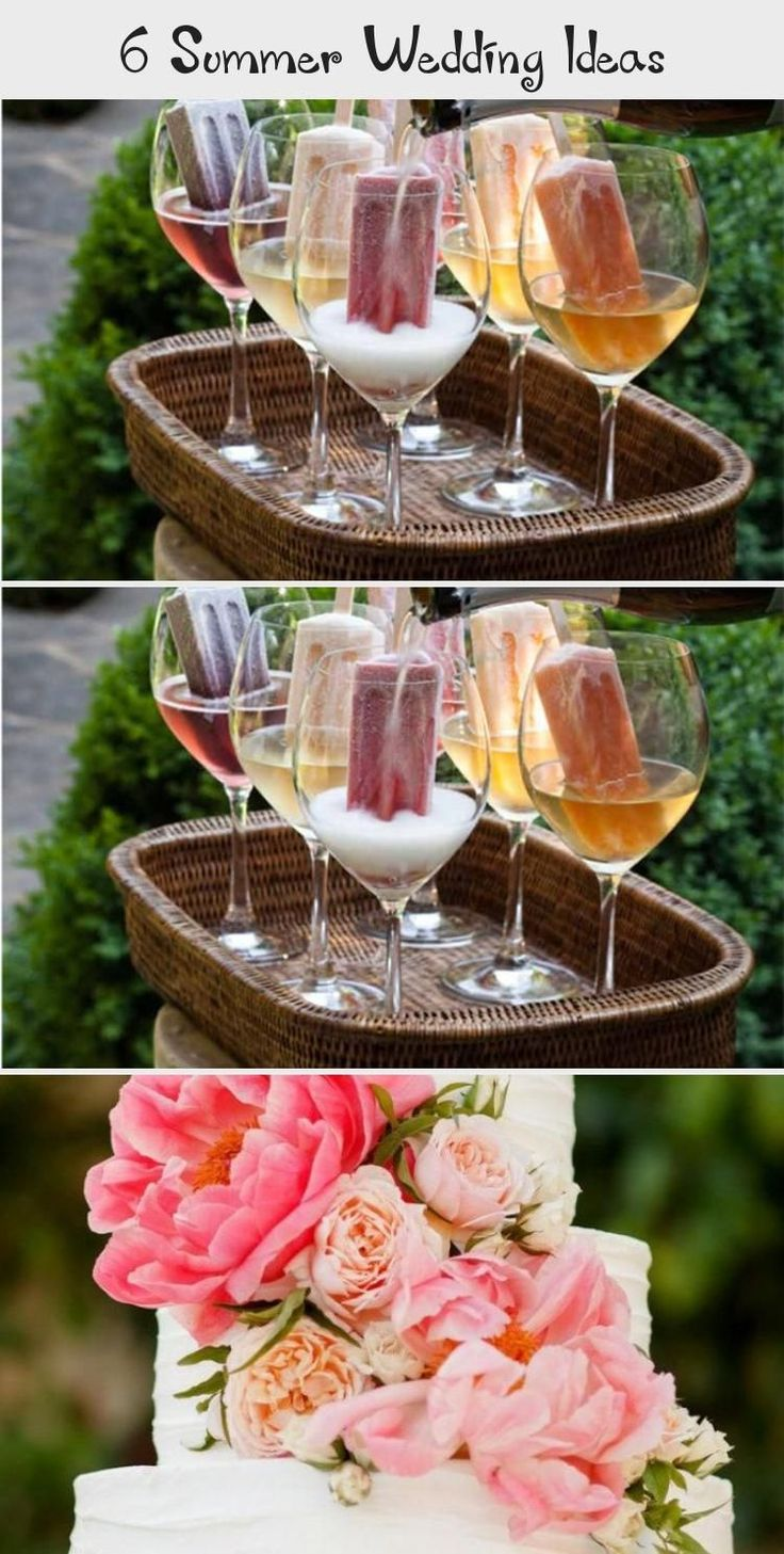 Summer wedding ideas ice lollies and wine or coc in 2020