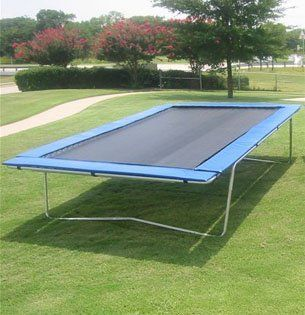 Olympic Rectangle Trampoline 10 x 17: Sports & Outdoors This is the type of trampoline we had as kids.