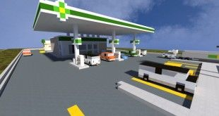 BP Gas Station The Block Society minecraft realistic fuel city town building ideas
