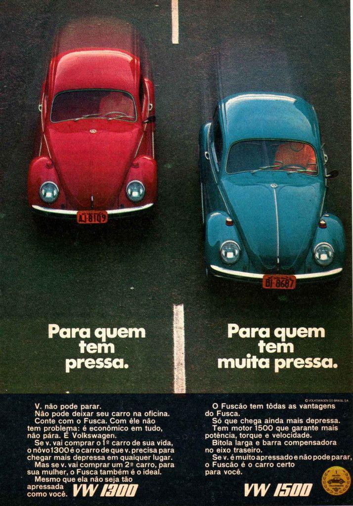 Volkswagen Fusca 1300 e 1500 - Propaganda