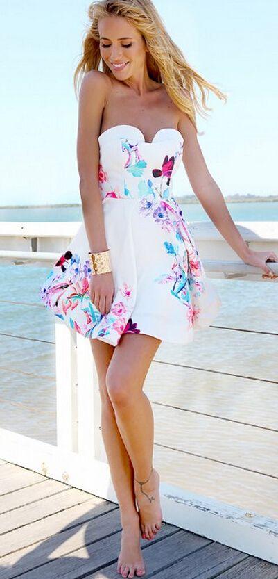 flower dress print made in dress italy back roberto animal ...